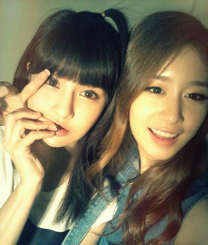 T-ARA (Tiara) wallpaper with a portrait titled Cute Boram and Jiyeon!