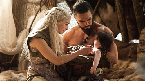 Dany and Drogo with Rhaego