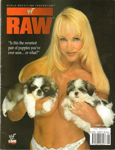Former WWE Diva... Debra achtergrond possibly containing a shih tzu called Debra - Raw Magazine August 1999