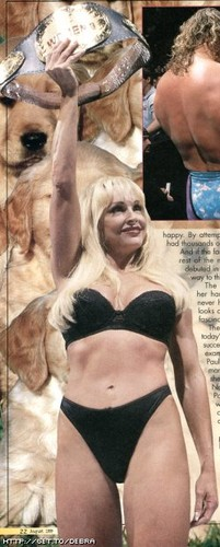 Former WWE Diva... Debra achtergrond possibly containing an abattoir and a bikini called Debra in her Bra & Panties