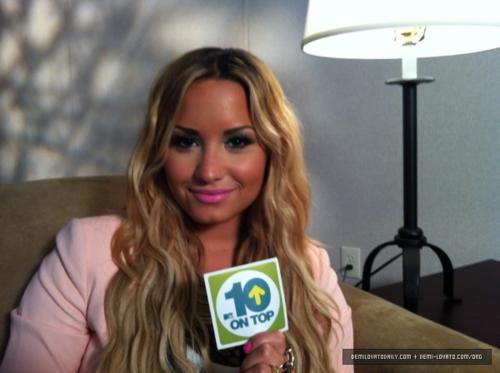 Demi - MTV's Ten on hàng đầu, đầu trang - June 15, 2012