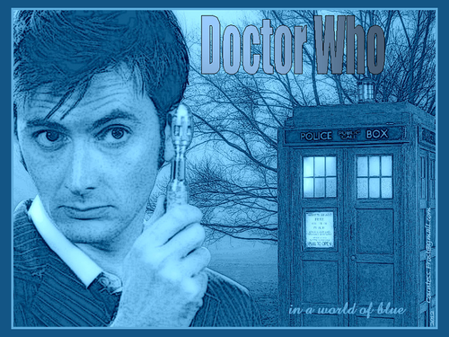 Doctor Who in a world of blue - doctor-who Wallpaper
