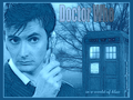 Doctor Who in a world of blue - the-tenth-doctor wallpaper