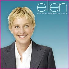 Ellen DeGeneres 바탕화면 probably with a business suit and a portrait titled Ellen Degeneres