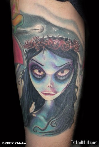 Corpse Bride wallpaper titled Emily Tatoo