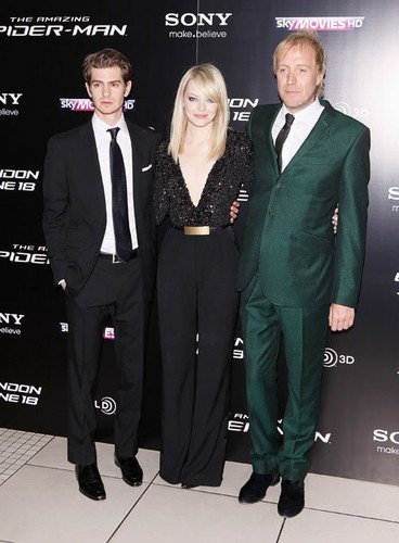 """Emma Stone, Andrew Garfield at the UK premiere of """"The Amazing Spider-Man"""" (June 18)."""