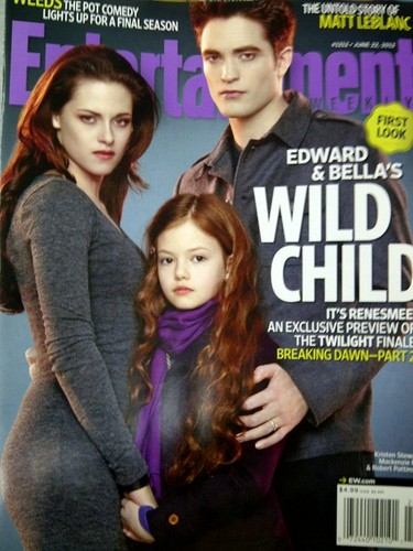 "Entertainment Weekly scans of Edward and Bella in ""Breaking Dawn - Part 2""."