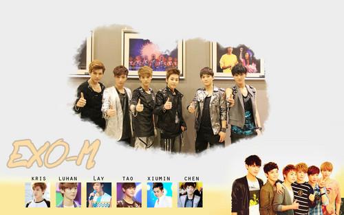 Exo-M kertas dinding