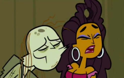 Ezekiel trying to kiss Anne Maria