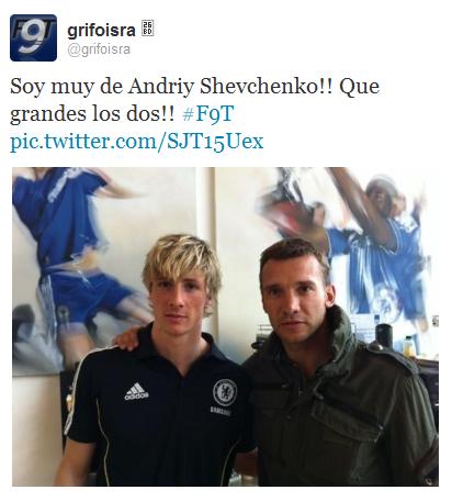 Fernando Torres with Andriy Shevchenko