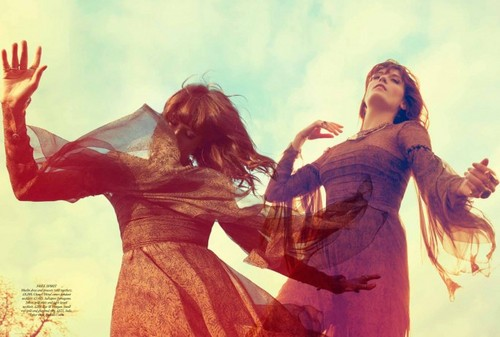 Florence + The Machine Hintergrund probably containing a hip boot titled Florence Welch for Harper's Bazaar UK July 2012