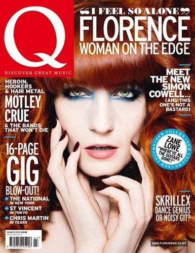 Florence + The Machine Hintergrund called Florence Welch for Q Magazine UK March 2012