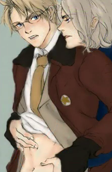 Hetalia Couples! karatasi la kupamba ukuta probably containing anime entitled FrUs~
