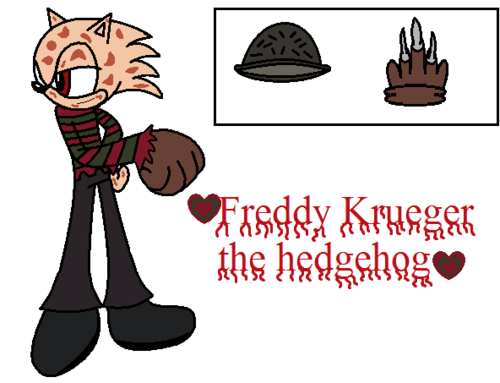 Freddy Krueger the hedgehog