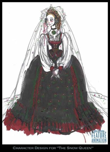 Nữ hoàng băng giá Character thiết kế