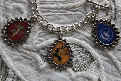 GAME OF THRONES HOUSE SIGILS charm bracelet