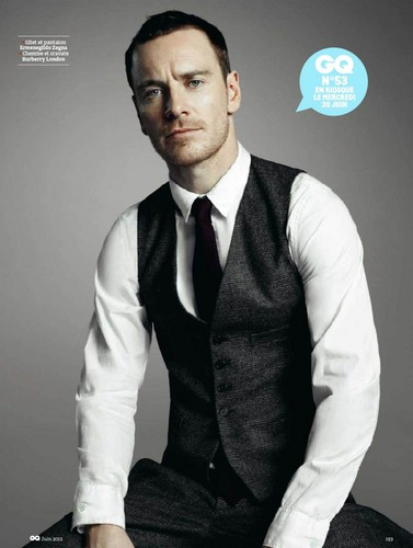 Michael Fassbender wallpaper with a business suit and a suit entitled GQ France June 2012