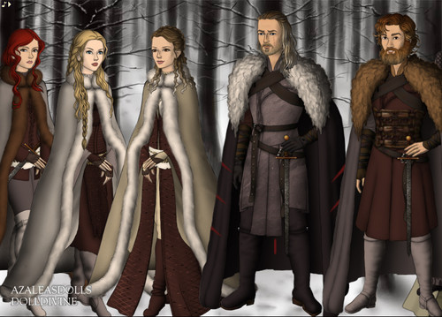 A Song of Ice and Fire wallpaper entitled Game of Thrones by DollDivine and Azalelas Dolls