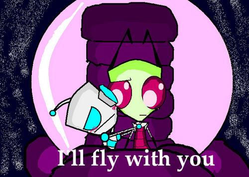 Gir: I love u Zim!