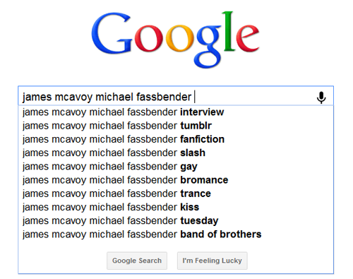 James McAvoy and Michael Fassbender 壁紙 called Google Ships McFassy