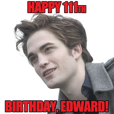 Happu birthday Edward