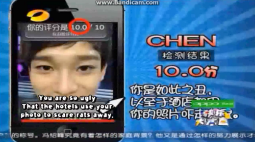 """Happy Camp reveals the """"Top 6 Least Attractive EXO-M member"""" using an Ugly Meter"""