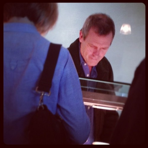 Hugh laurie-London Heathrow Airport ( traveling to Ukraine)
