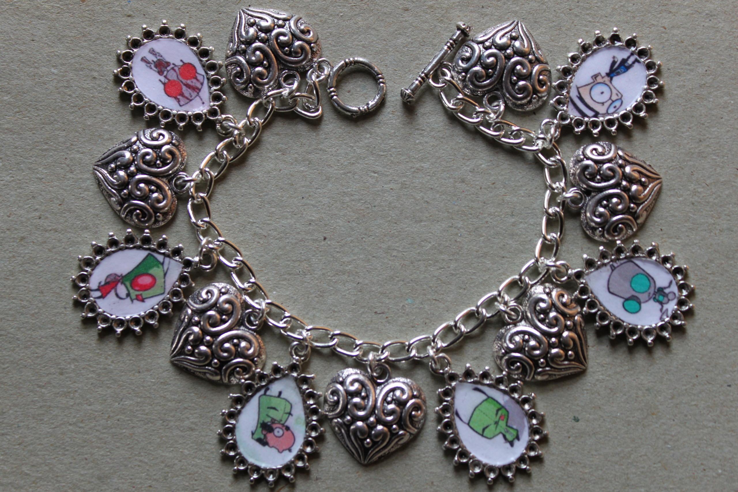 INVADER ZIM charm bracelet