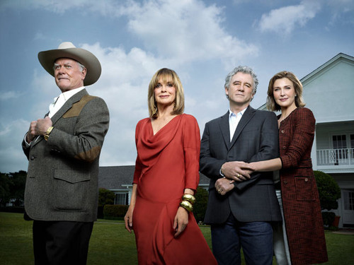 Dallas Tv Show wallpaper probably containing a business suit, a well dressed person, and a fedora entitled J.R., Sue Ellen, Bobby and Ann Ryland Ewing