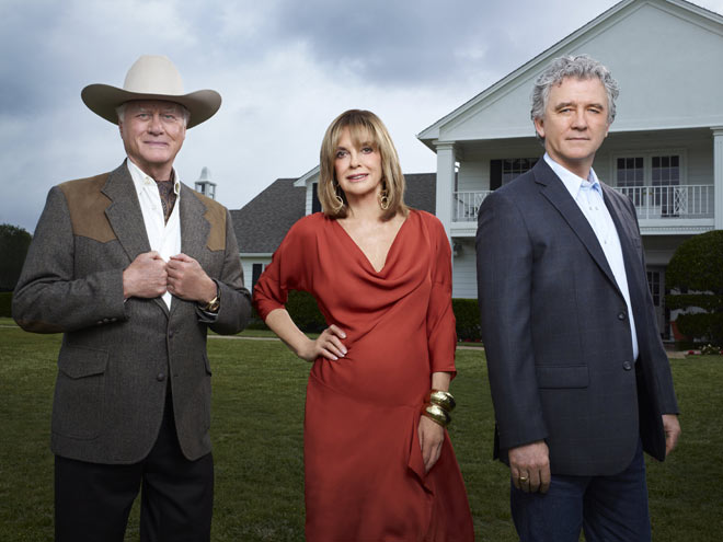 Dallas Tv Show J.R., Sue Ellen and Bobby Ewing