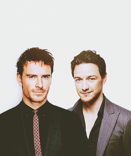 James McAvoy and Michael Fassbender wallpaper containing a business suit and a suit called James & Michael