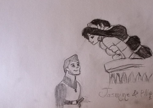 Jasmine & Phillip - disney-crossover Fan Art