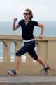 Jennifer going for a run along the Santa Monica coastline