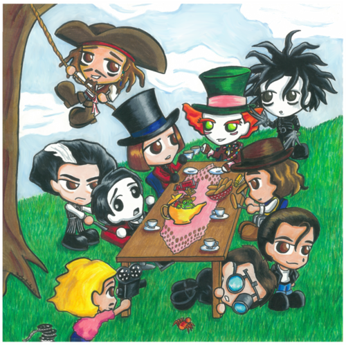 Johnny Depp tea party - johnny-depp Fan Art