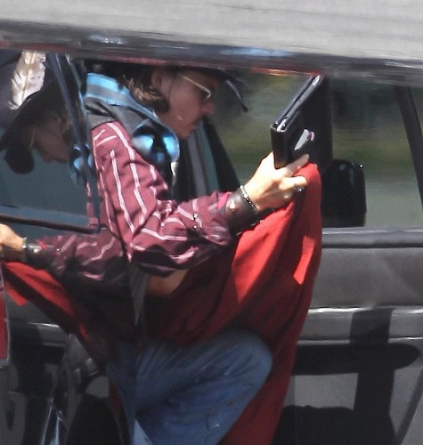 Johnny on his way to New Mexico for Lone Ranger on June 7