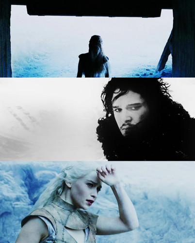 Jon & Daenerys wallpaper containing a snowbank and an igloo entitled Jon and Dany