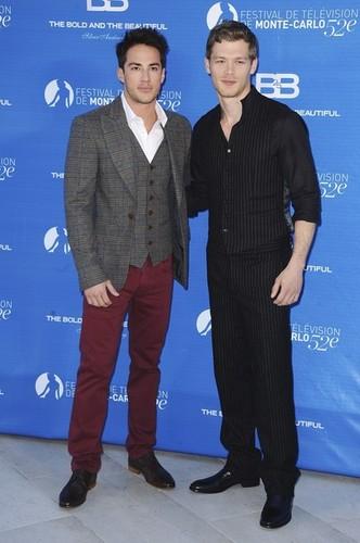 Joseph morgan & Michael Trevino at the 52nd Monte Carlo TV Festival