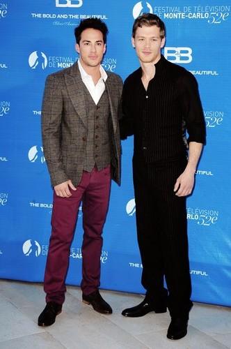 Joseph মরগান & Michael Trevino at the 52nd Monte Carlo TV Festival