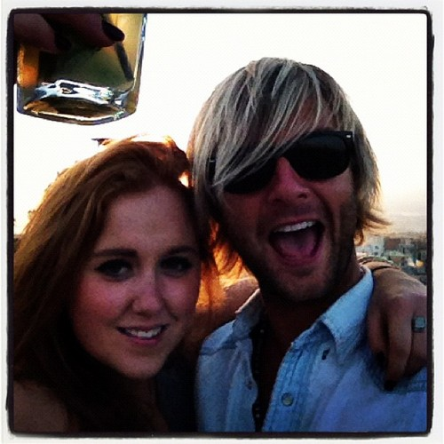 Keith Harkin hình nền possibly with a sign, sunglasses, and a cách vận chuyển, tuyến entitled Keith and Rebecca