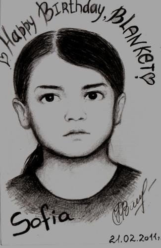 Kobeleva Sofia's drawing Blanket Jackson ♥