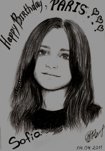 Kobeleva Sofia's drawing Paris Jackson ♥ - paris-jackson Fan Art