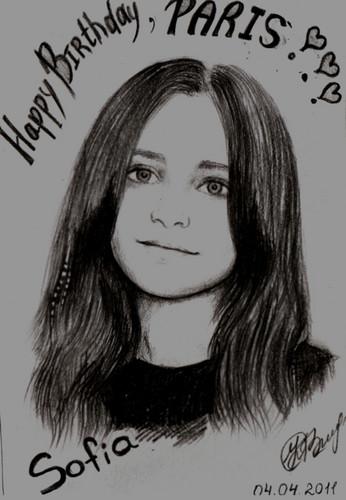 Kobeleva Sofia's drawing Paris Jackson ♥
