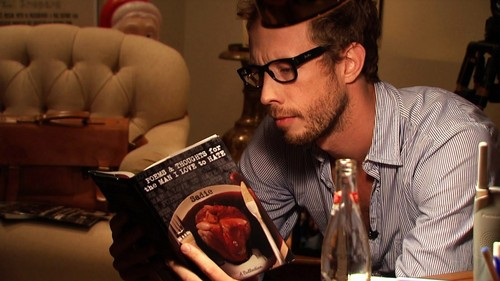 And a bearded man read...
