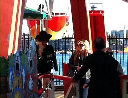 Lady GaGa and Tara Savelo at Luna Park in Sydney, Australia (June 18th)