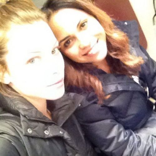 Lauren German and Monica Raymund