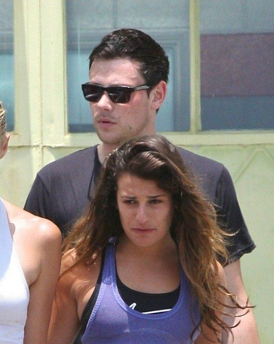 Lea & Cory Leave A Workout Together - June 13, 2012