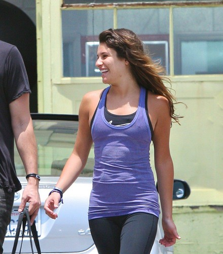 Cory Monteith wallpaper entitled Lea & Cory Leave A Workout Together - June 13, 2012