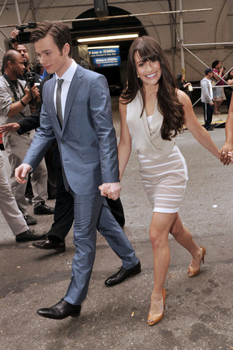Lea Michele and Chris Colfer - 狐, フォックス Network Upfront Event in NYC
