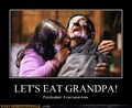 Let's eat grandpa grammar poster