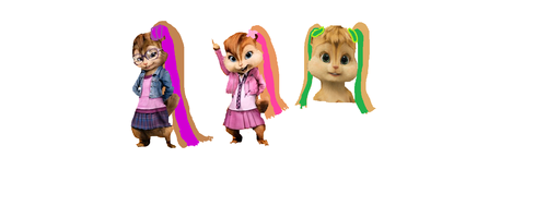 Long haired Chipettes - the-chipettes Fan Art